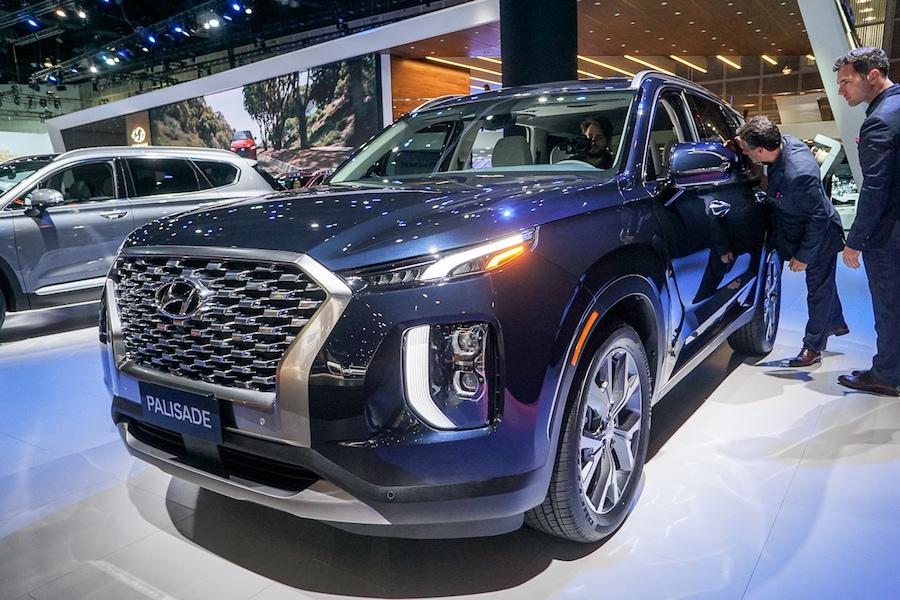LA Auto Show-Hyundai Palisade front