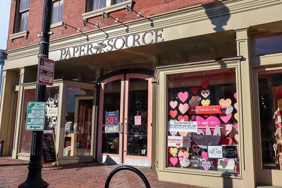 Paper Source in Georgetown offers classes