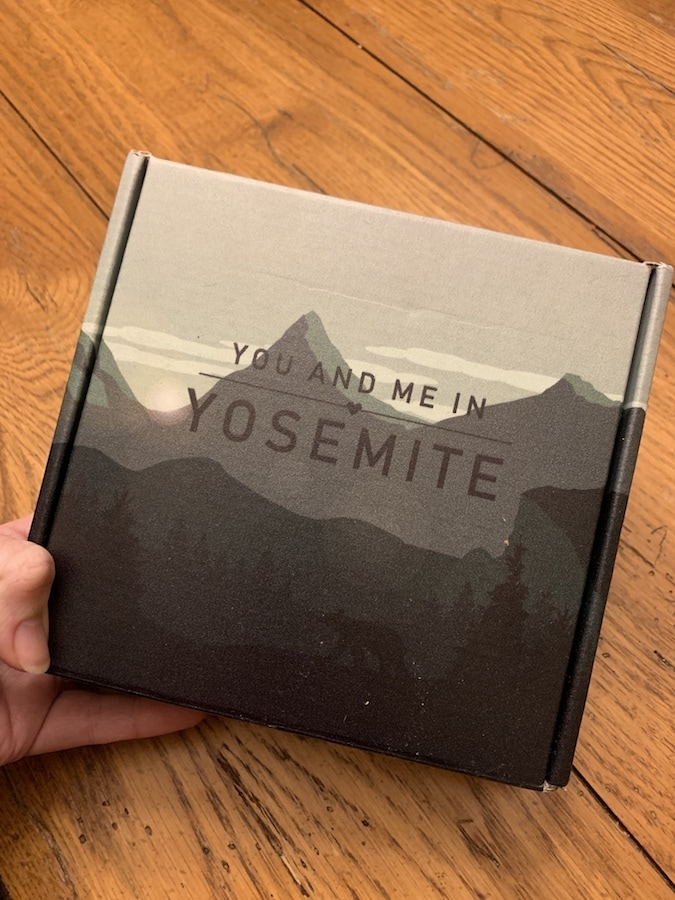 You and Me in Yosemite box from Crated with Love