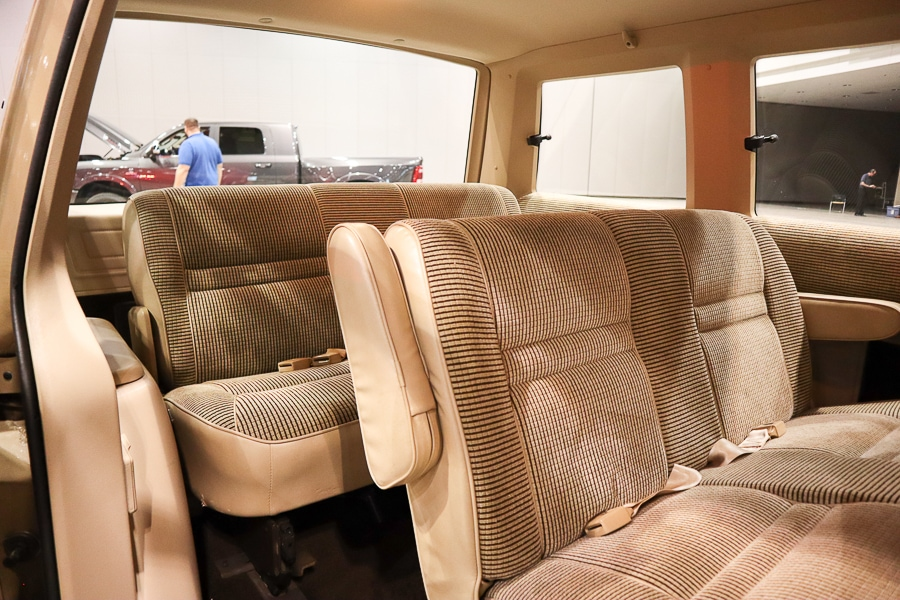 1984 Plymouth Voyager rear seating