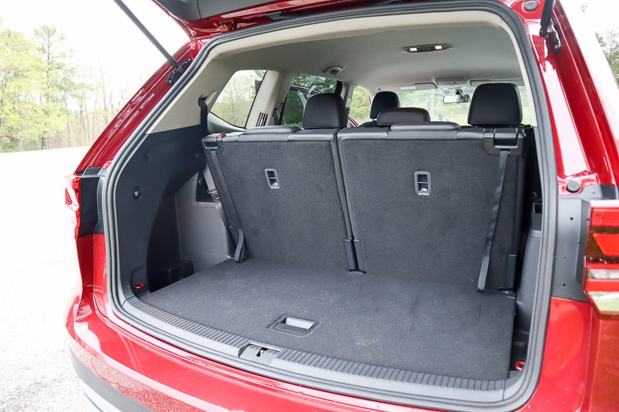 VW Atlas third row cargo space