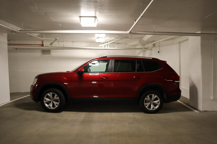 Parallel parking the VW Atlas