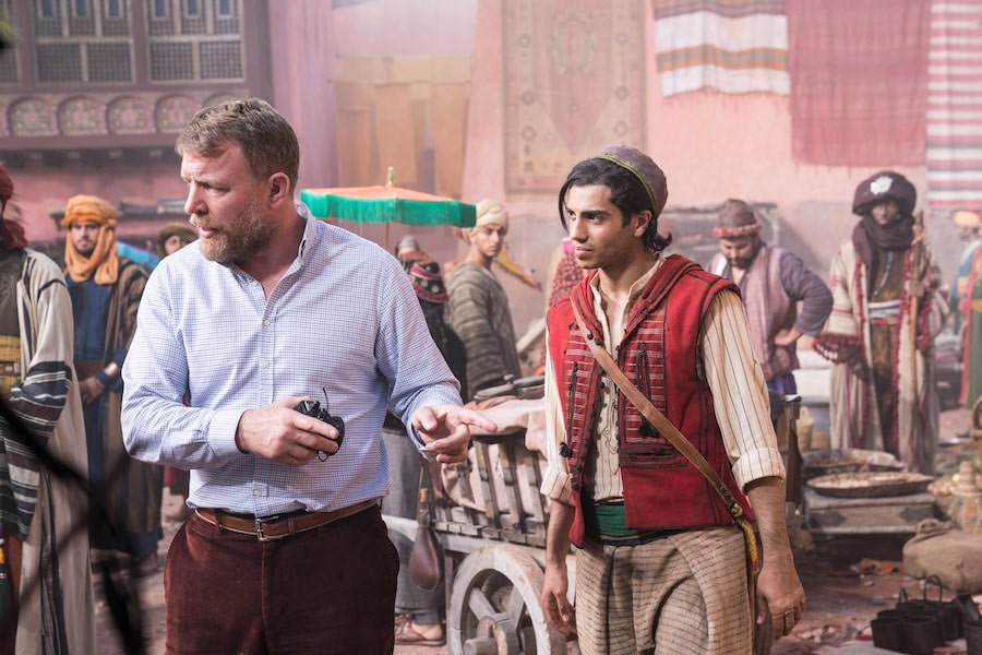 Guy Ritchie, director on set of Aladdin