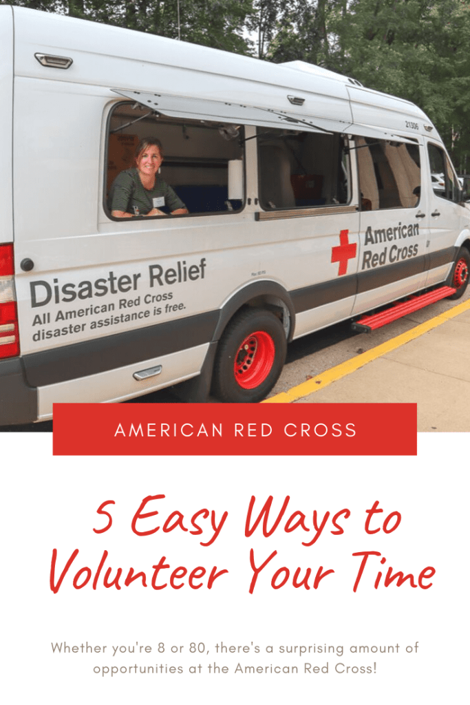 Volunteer your time with American Red Cross
