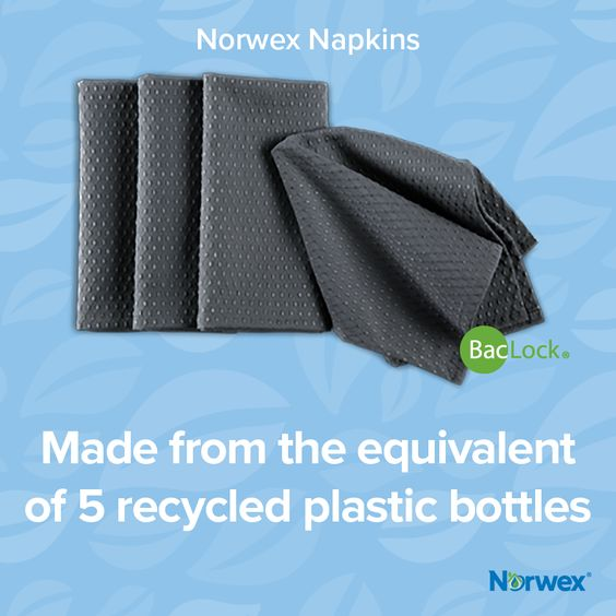 Norwex BackLock Slate Napkins