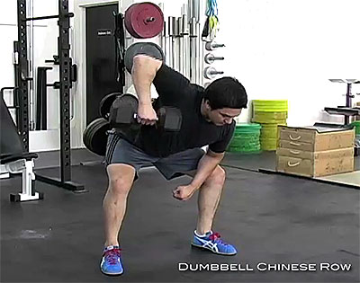 Chinese Row Dumbbell