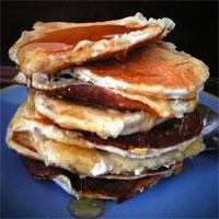 Apple and Banana Vanilla Protein Pancakes