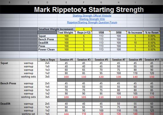 Starting Strength Routine Calculator Generator