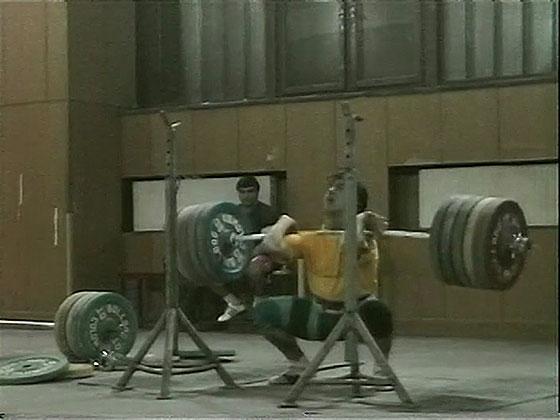 Zlatan Vanev 245kg Front Squat