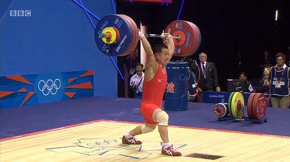 OM Yun Chol Clean Jerk Olympic Record 168kg