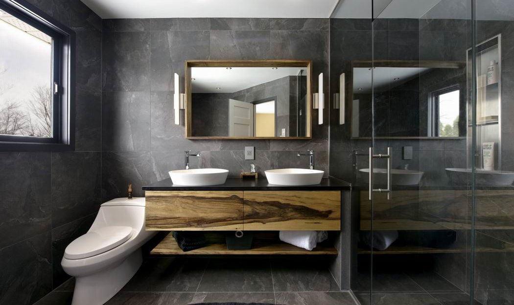 Why We Love Open Shelving In Bathroom Vanities Allthingshome Ca
