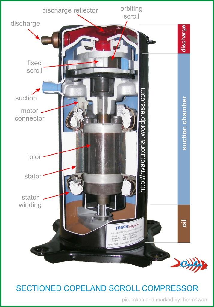 Copeland Scroll Wiring Diagram Refrigeration Compressors Mechanism Types Copeland Scroll Compressor