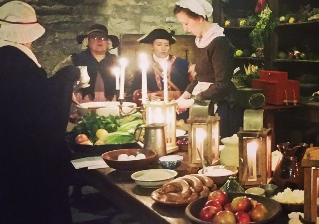 Old Fort Niagara Castle by Candlelight