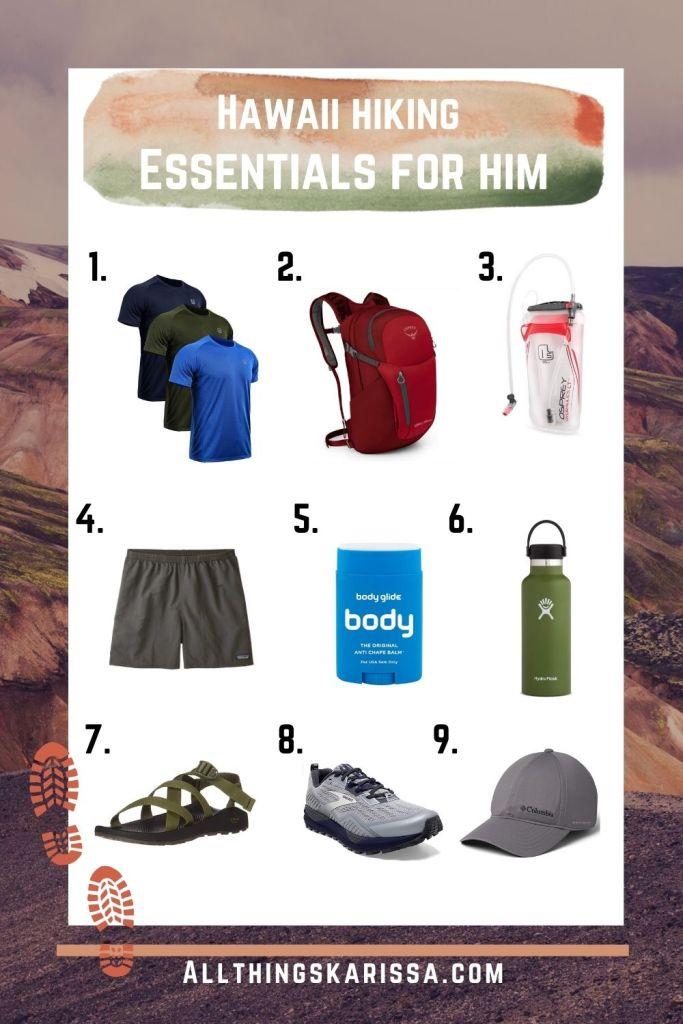 Hawaii Hiking Essentials for Him