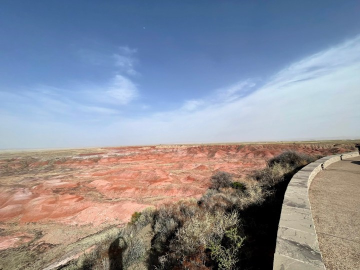 Painted Desert Overlook at the Petrified National Forest