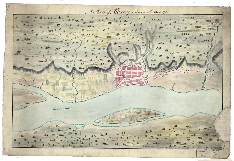 Albany map 1758