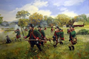 Jaegers Advance at Thornbury Farm by Pamela Patrick White, whitehistoricart.com