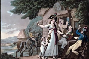 """""""She Will be a Soldier"""" by Thomas Rowlandson, circa 1798. (Anne S. K. Brown Military Collection)"""