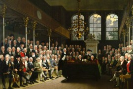 The House of Commons 1793-94 by Karl Anton Hickel. (National Portrait Gallery, London)
