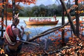 """Change of Seasons"" by Bryant White. (White Historic Art, whitehistoricart.com)"