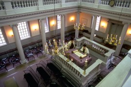 Touro Synagogue, designed by Peter Harrison,  1759-1763, Newport, Rhode Island. (Photo courtesy of author)