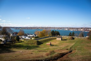 The harbor of New London as it looks today from Fort Griswold on Groton Heights. (Photo by Tad Sattler)