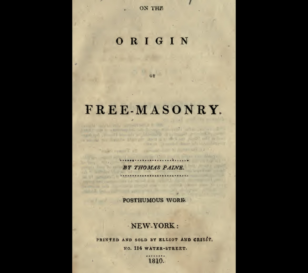 Help with a formal essay on the Freemasons?