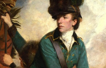"Detail of ""Colonel Tarleton,"" by Sir J. Reynolds 1782. (The National Gallery, UK)"
