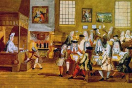 A 17th-century depiction of a coffee house in London. (Epoch Times)