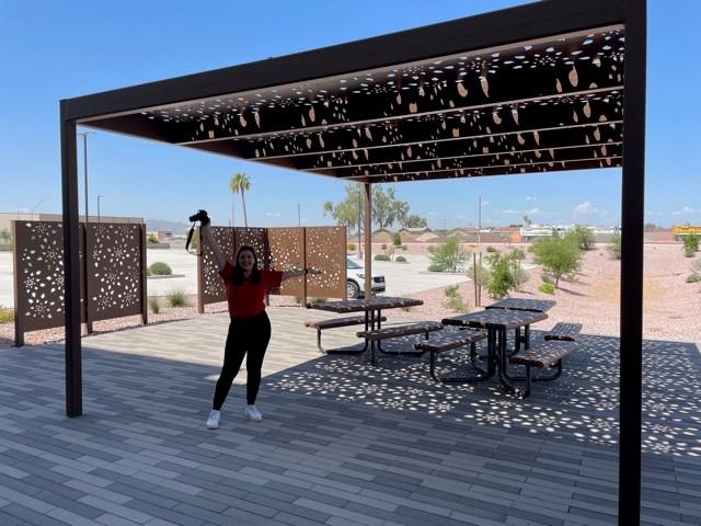 Custom Canopy design steel laser cut canopy designed by All Things Metal Phoenix Arizona