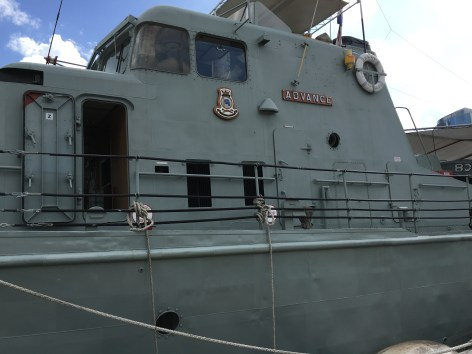 patrol boat at the National Maritime Museum