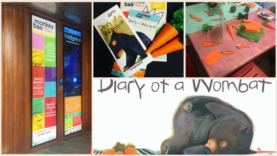 diary of a wombat at monkey baa theater