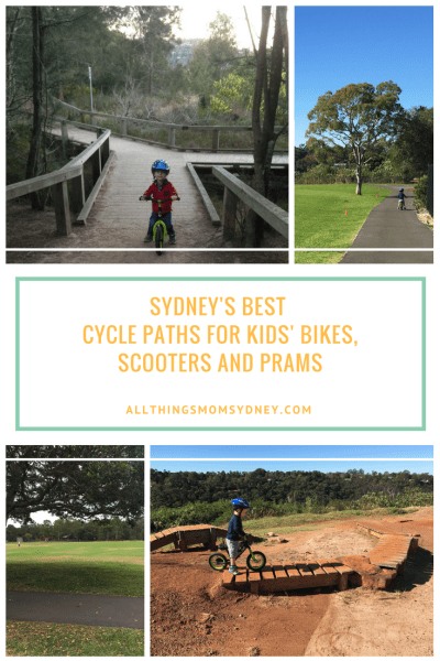 Sydney Cycle Paths for Kids' Bikes, Scooters and Prams