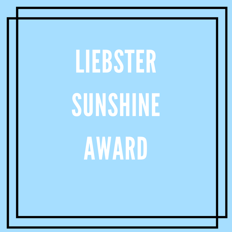 The Liebster Sunshine Awards - for bloggers by bloggers