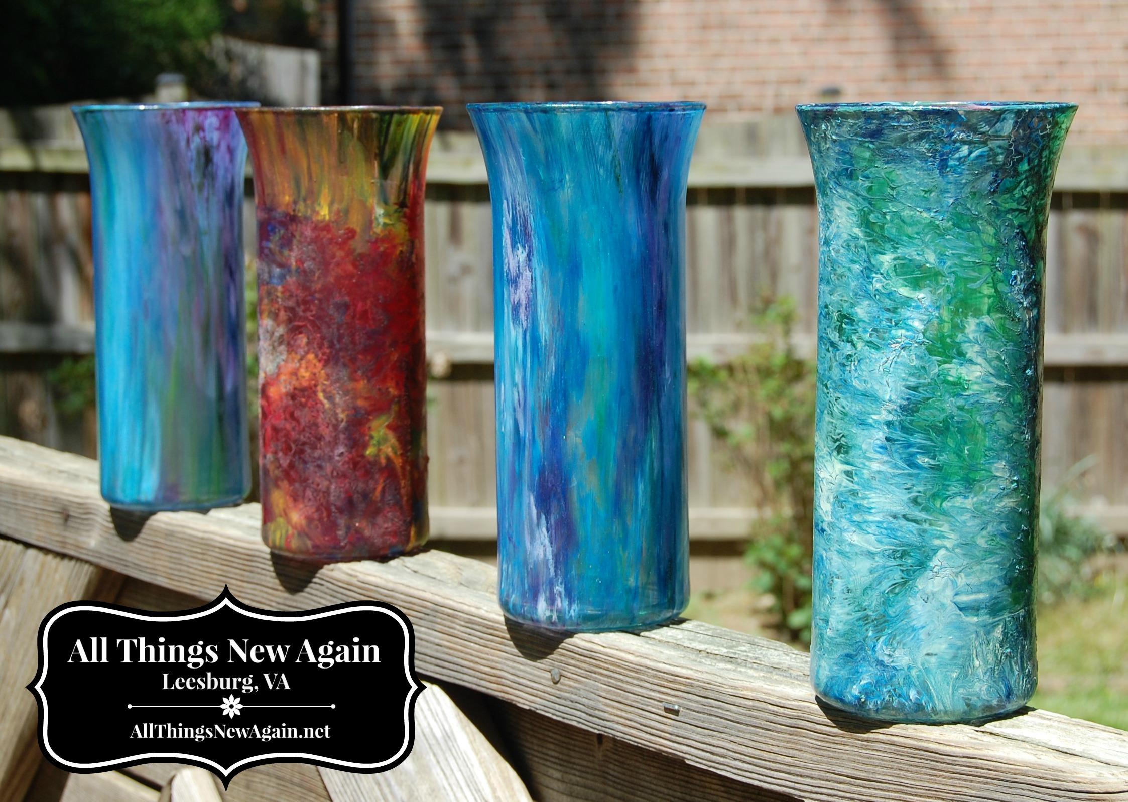 Transform Ordinary 1 Vases With Unicorn Spit Rainbow Gel