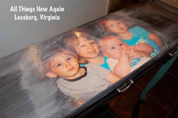 Decoupage Family Photos onto Furniture   Mod Podge   Decoupage   Decoupage Photo onto Table