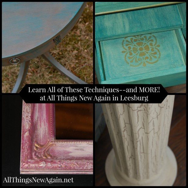 Furniture Painting Class | All Things New Again | Northern Virginia | Chalk Paint Class | Dixie Belle Paint
