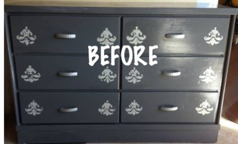 Before US Flag Dresser