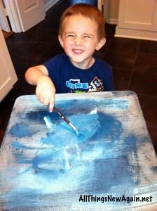 Joey painting