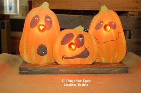 light up pumpkin trio