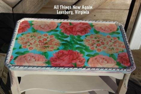 Decoupage is a popular technique for furniture makeovers. Here are our best tips for making it beautiful! | All Things New Again