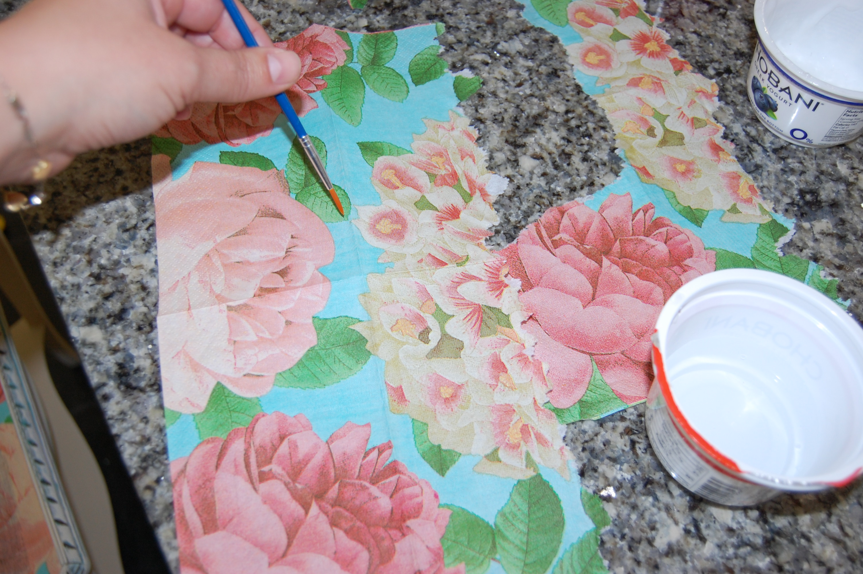 Tips For Decoupaging Paper Napkins Onto Furniture All