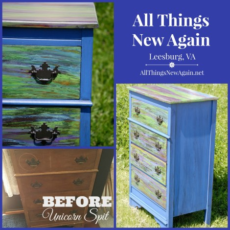 Unicorn Spit_Mom Blue Dresser