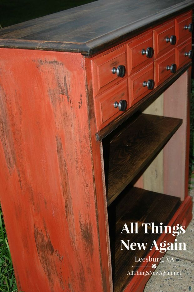 Redstone is a vibrant autumn color by Real Milk Paint Co. | Sold at All Things New Again, Leesburg VA