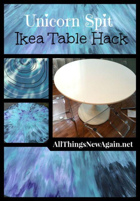 Unicorn Spit Ikea Table Hack