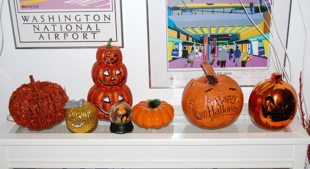 Halloween Home Tour   All Things New Again   Ceramic Pumpkin Patch