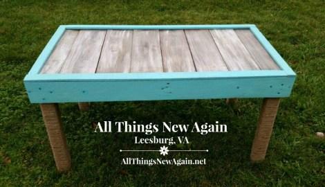 Real Milk Paint pallet wood table