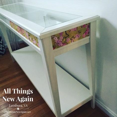 Ikea table mod podge in progress