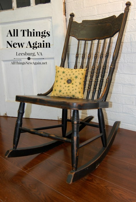Small Black Rocking Chair
