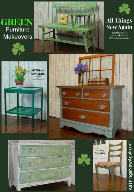 Green Furniture Makeovers | Painted Furniture | Green Furniture Inspiration
